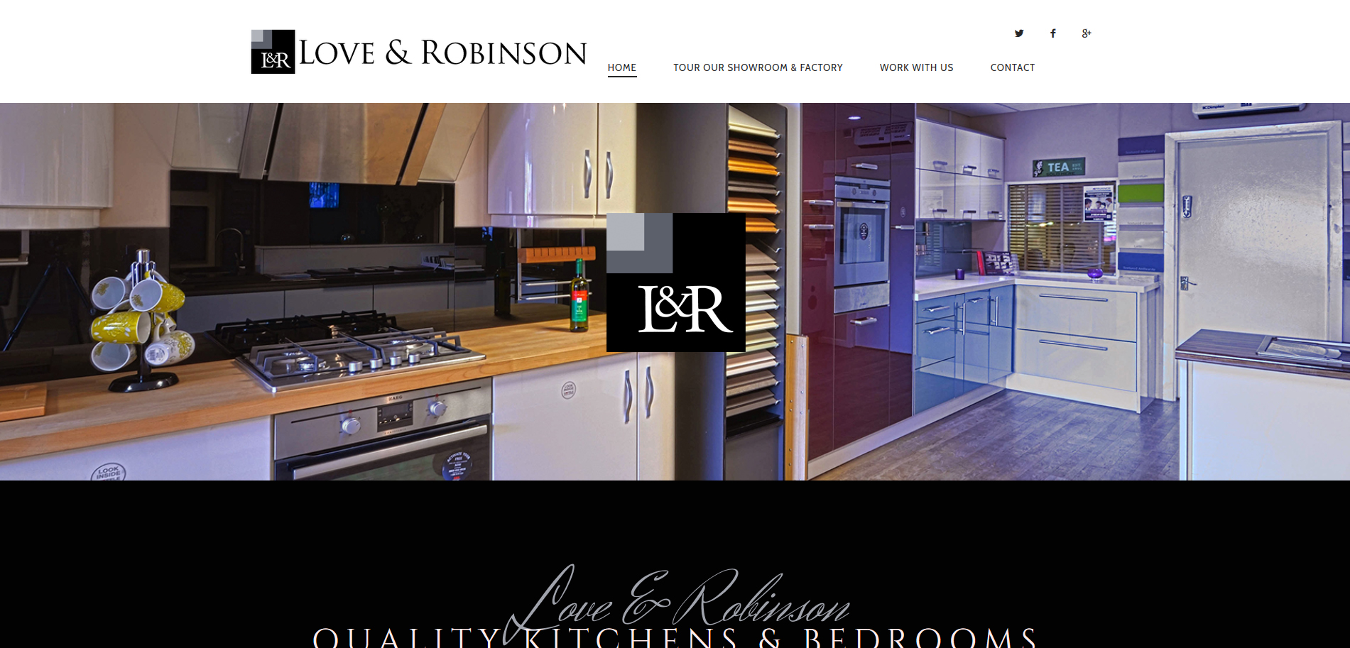 Love and Robinson Kitchens Website